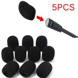 5x 30mm*20mm*8mm Microphone Earphone Headset Windshield Sponge Foam Mic Cover L