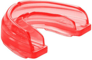 Shock Doctor Braces STRAPLESS Sports Mouthguard - Youth or Adult, RED