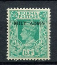 Burma 1945 SG#40, 1.5a KGVI Optd Mily Admn MNH #C85