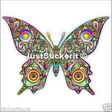 Colourful Butterfly 100mm Bumper Sticker Car Caravan Sticker Decal Ipad Tablet