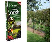 BLACK METAL POWDER COATED GARDEN ROSE ARCH CLIMBING PLANTS TRELLIS 2.4M ARCHWAY