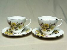 "Set of 2 Duchess Bone China Tea Cup and Saucer England ""Susie""  Pattern #406"