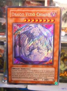 Yu Gi Oh Carta Mostro DRAGO VIZIO CHIARO SOVR-IT098 Rara Segreta 1° ITALIANO ITA