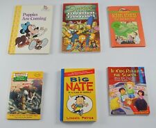Lot of 6 Vintage Childrens Books Minnie Mouse The Simpsons Big Nate School DD6P9