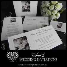 Black & White Roses Wedding Invitations & Stationery - Samples Invites ONLY $1
