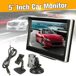 5'' LCD Digital Car Rear View Monitor Parking Backup Reversing Camera + Bracket