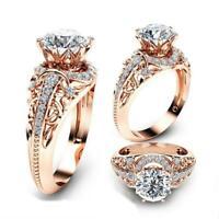 Frauen Schmucksachen Weißes Gold Überzogen Rosen Gold, Silber Ring Hochzeit