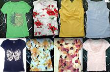 ANN TAYLOR Floral Solid Striped Tank Short Cap Sleeve KNIT TOP Shirt TEE M L