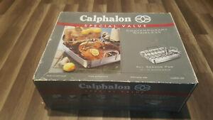 "Calphalon 1805 Contemporary Stainless nonstick, 13"" X 16"" roaster & rack NEW"