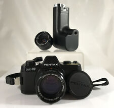 Asahi Pentax Auto 110 SLR Film Camera With Winder And Lenses 18mm & 50mm
