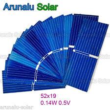 100pcs 52x19 mm Solar Cell Battery Charger Poly Solar Mini Panel Car Toys DIY