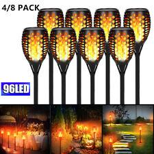 DE 96 LED Solar Fackel Lampe Garten Beleuchtung Solar Flamme Licht Solarleuchte