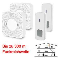 2 Arten Funk Klingel Türklingel Türgong 55 Melodien 300m Steckdose Weiß Led 168