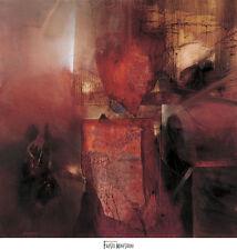 """European Artist, Fausto Minestrini """" Burning Heart """" Abstract Large print"""