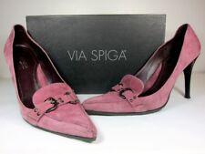 """A Vintage Via Spiga Winter pink color genuine suede 4"""" heels shoe."""