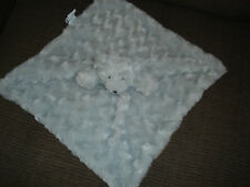 BLANKETS & BEYOND GREY TEDDY BEAR BABY COMFORTER SOFT TOY SWIRLS THICK SNUGGLY