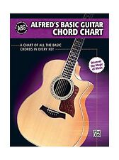 Alfred's Basic Guitar Chord Chart: A Chart of All the Basic Cho... Free Shipping