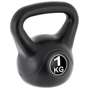MAXXIVA Kettlebell Kugelhantel 1kg schwarz Krafttraining Fitness Rundgewicht