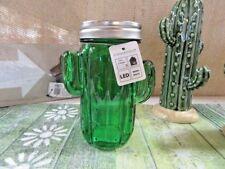 LED Deco Tischleuchte Glas Kakteen Partydeko Schraubverschluß LED-Draht grün
