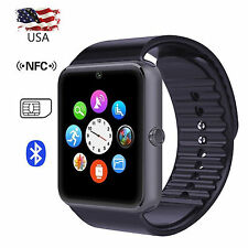 Bluetooth Smart Watch NFC Phone with Sim Card Slot anti-lost Call reminder Black