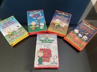 Peanuts Classic 5 VHS tape Lot Charlie Brown Christmas, Thanksgiving, Easter etc