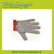 Guanto antitaglio da macellaio a maglia inox taglia XL Sanelli