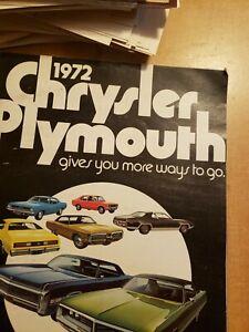 1972 Chrysler/Plymouth Brochure