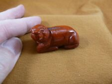 (Y-Seal-559) little Red Jasper Seal gemstone carving Figurine seals sea lion