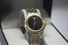 Movado Unisex Black Dial Two-Tone Stainless Steel Bracelet Watch 81.A2.879