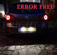 VW GOLF MK4 MK5 PURE WHITE ERROR FREE LED Number Plate Light Bulbs UPGRADE