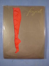 """Fogal Style 156 Orage """"Crazy Raindrops"""" Pantyhose Size Small in Rouge"""