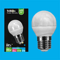2x 5.5W (=40W) LED Instant On Pearl Round Golf Light Bulbs ES E27 Screw Lamps