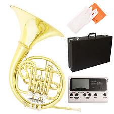 Professional Band Single B-Key French Horn Brass w/ Tuner, Care Kit for Beginner