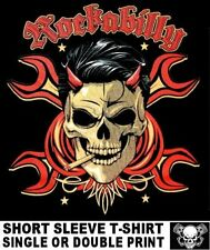 ROCKABILLY GREASER SKULL CROSSED WRENCHES ROCK N ROLL CAR CULTURE T-SHIRT WS154