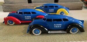 "Rare  Disney Pride Lines Manoil  ""D Duck Taxi"" Factory Color Variation  MINT"