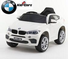 Kinderauto elektrisch 2x 45W BMW X6M weiß SUV mit 2x Akku X6 Kinderfahrzeug neu