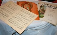 Vintage Sheet Music: (Lot of 3) A Twighlight, Angel's Serenade & Wake with Dawn