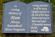 GRAVESTONE BOOK DESIGN MEMORIAL STONE HEADSTONE GRAVE PLAQUE MEMORIAL STONE