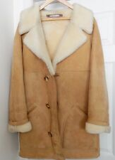 BROOKS BROTHERS Jacques Jekel Jacket Range Coat Suede Leather Sheepskin 40 VTG