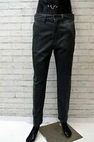 Pantalone AVIREX CHINO Uomo Taglia 46 Jeans Pants Cotone Gamba Dritta Grigio Zip