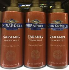 3 PACKS Ghirardelli Caramel Flavored Sauce Each 17 oz.squeeze bottle