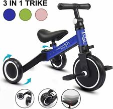 3 in 1 Tricycles for 1-3 Years Old Kids Trike 3 Wheel Toddler Kids Blue