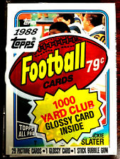 1988 Topps Football Cello Pack w/ JACKIE SLATER ON TOP ~ A HALL OF FAME INDUCTEE