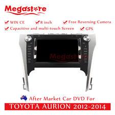"8"" Car DVD GPS Navigation Head Unit Stereo For TOYOTA AURION 2012-2014"