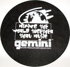Gemini Mat-2bwnh Dj Turntable Slipmats Pair Price (mat2bwnh)