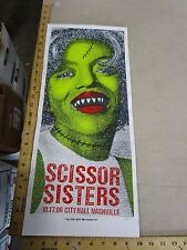 MB/2006 Rock Roll Concert Poster Scissor Sisters Print Mafia S/N LE#100 Monster
