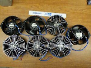 """Lot of 7) System Papst PAMOTOR 7600S 5"""" Fans 115V, 50/60 Hz, 40 Watts"""