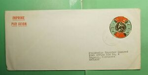 DR WHO 1965 BURUNDI AIRMAIL TO ENGLAND COIN TYPE  g04955