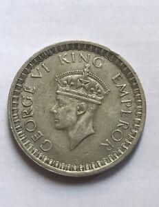British India Silver Rupee 1942