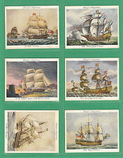JOHN  PLAYERS  &  SONS - SCARCE  SET  OF  L 25  OLD  NAVAL  PRINTS  CARDS - 1936